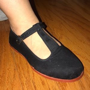 Shoes - Mary Jane cloth shoes (NWOT) size 8